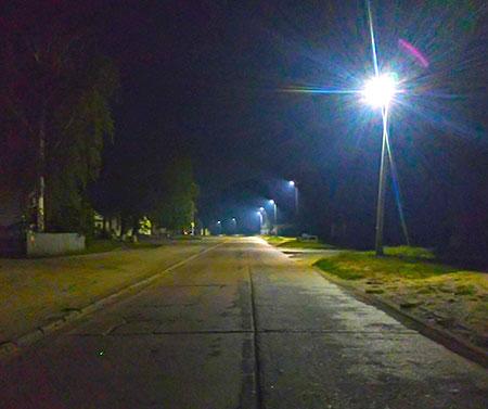 Освітлення вулиці в селі Красноє.