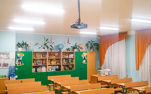 ЛЕД світильник LINE 1000. Освітлення шкільного класу.