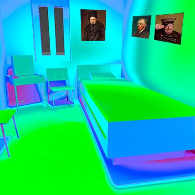 Спальня в Арлі, Розрахунок.