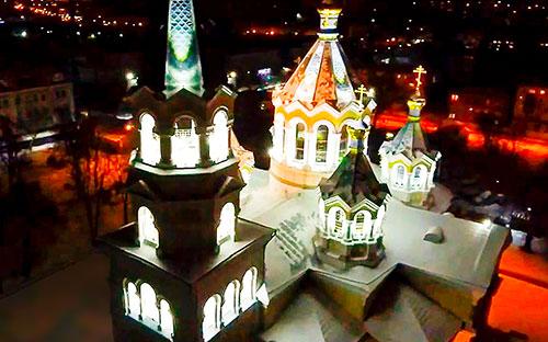 NEEDLE 25. М. Житомир. Архітектурне освітлення.