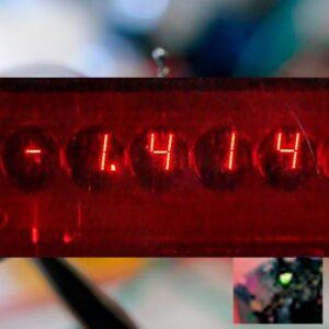 Перший світлодіодний індикатор.